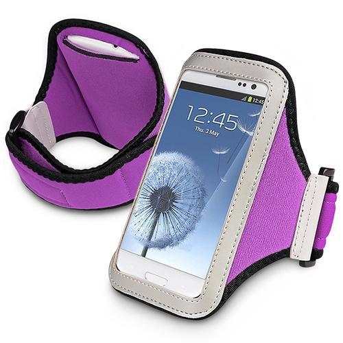 Insten Sports Armband Case Phone Holder For Samsung Galaxy S5 Mini S3 S4 / iPhone SE 5S 5C / Motorola Moto G X Purple