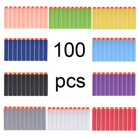 Zerone 100pcs EVA Foam Toy Gun Soft Refill Bullets Darts for Elite Series,Foam Suction Bullets
