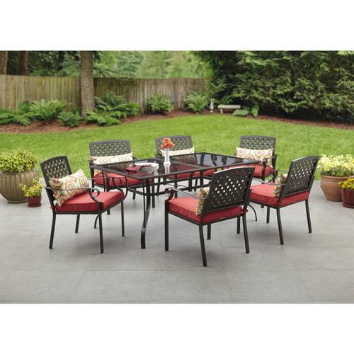 alexandria crossing 7 piece patio dining set seats 6. Black Bedroom Furniture Sets. Home Design Ideas