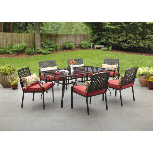 Alexandria Crossing 7 Piece Patio Dining Set, Seats 6