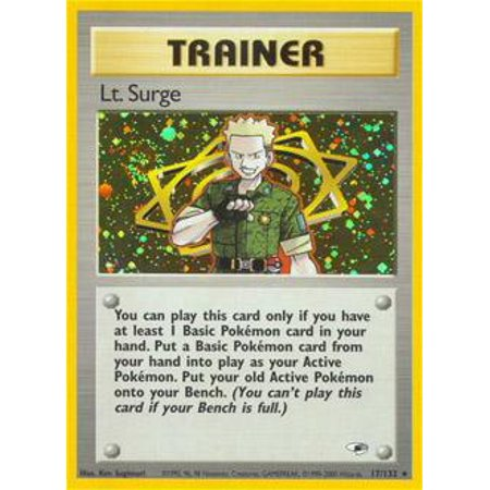 Pokemon Gym Heroes Lt. Surge