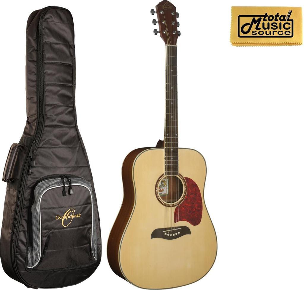 Oscar Schmidt OG2 Acoustic Dreadnought Guitar, Natural w Gigbag, OG2N BAG by Oscar Schmidt