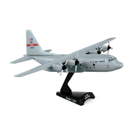C-130 Plane - Diecast Metal Historical Airplane - USAF C-130 Hercules Transport 1/200 Plane