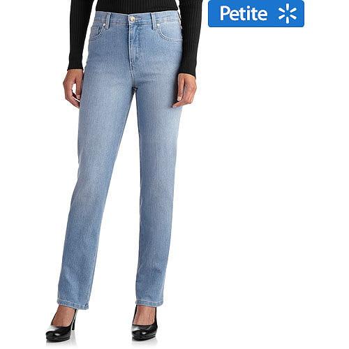 GLO by Gloria Vanderbilt Women's Petite Mandie Classic Fit Straight-Leg Jeans