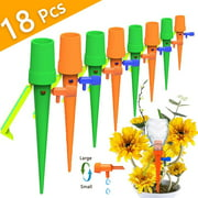 Peroptimist 18 Pack Automatic Watering Plant Spikes Self Watering Devices System Drip Waterer for Indoor Outdoor Plants Flowers Supply During Your Holiday