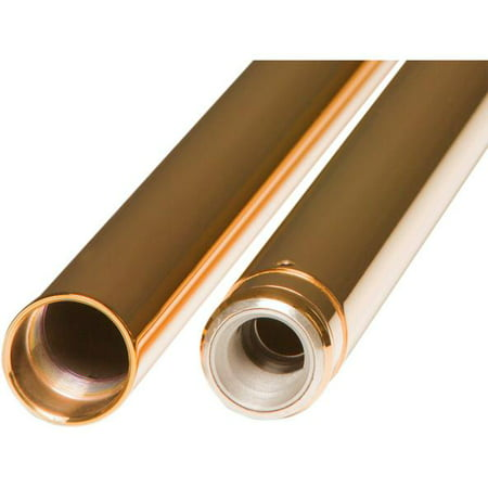 39 Mm Fork Tubes - Custom Cycle T 1345TN 39mm Gold Fork Tubes - 24.25in.