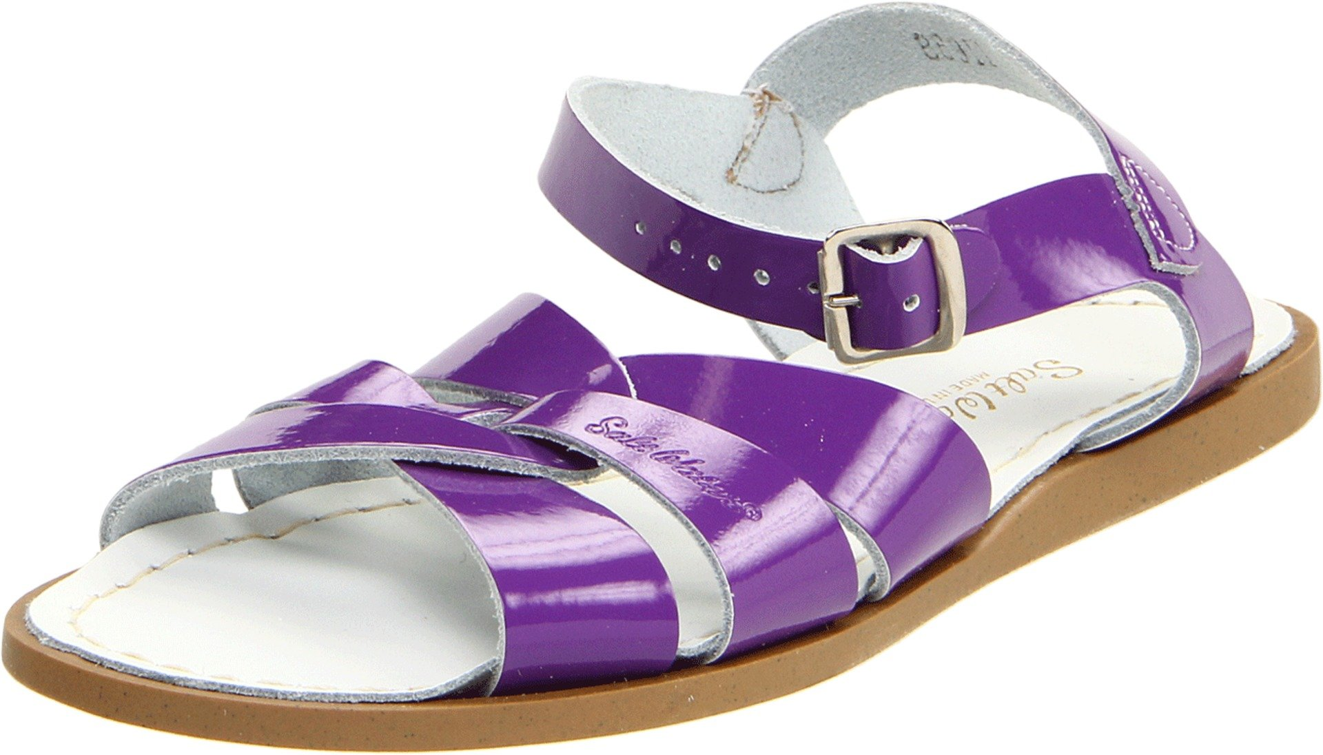 Salt Water Sandals 889-SHINYPURPLE by Hoy Shoe The Original Shiny Purple Sandal