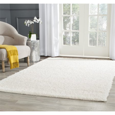Safavieh Athens Shag 3' X 5' Power Loomed Polypropylene Rug in White - image 1 de 3