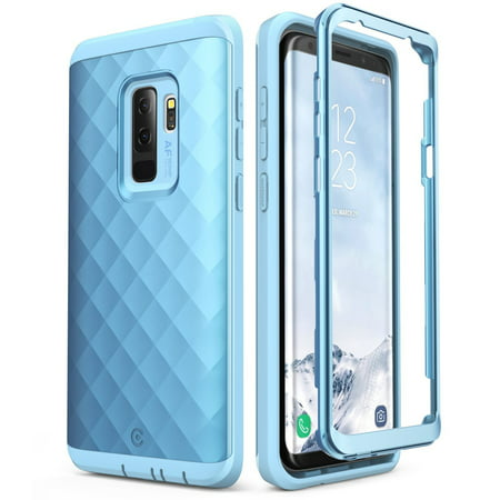 buy online 06cd4 1e321 Galaxy S9 Plus case, Clayco Hera Series Full-body Rugged Case WITHOUT  Built-in Screen Protector for S9 Plus 2018 Blue