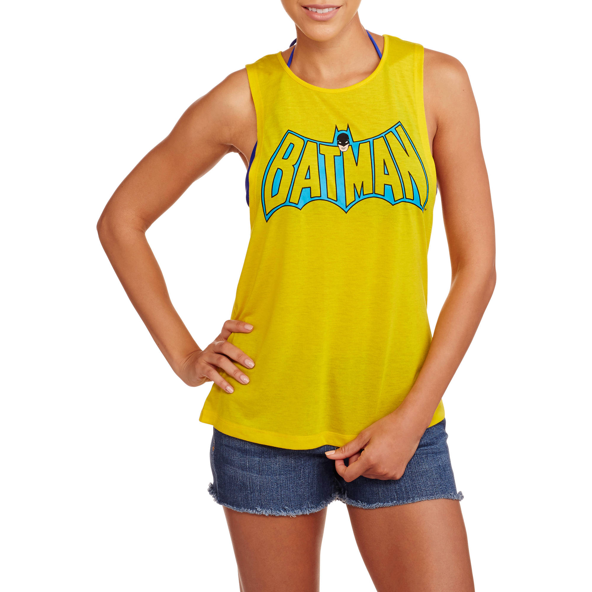 Batman Juniors Graphic Muscle Tank