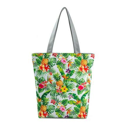 National Wind Printed Canvas Tote Casual Beach Bags Women Shopping Bag (C'n'c Costume National Handbags)