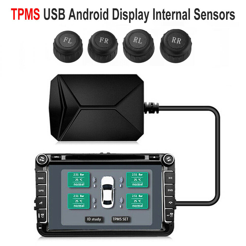 USB Tire Pressure Monitor System TPMS External Sensors for Android Navigation Display
