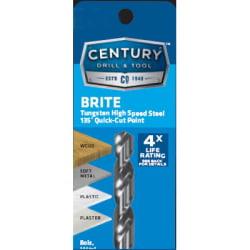 3/8 inch Brite Drill Bit 118 Split Point 0.5' Compact Tough Drill