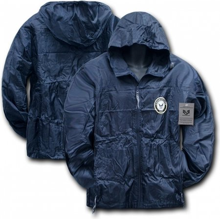 RapDom Navy Solid Military/Law Mens Lightweight Windbreaker Jacket [Navy Blue - 2XL]