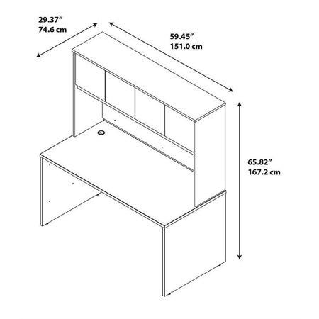 Series C Elite 60W x 30D Desk Shell with Hutch in Mocha Cherry - image 6 de 9