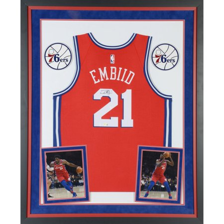 new styles e8e68 82098 Joel Embiid Philadelphia 76ers Deluxe Framed Autographed Red Statement  Swingman Jersey - Fanatics Authentic Certified - Walmart.com