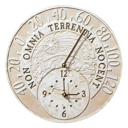 Celestial Clock - Fossil Celestial Thermometer Clock - Weathered Limestone