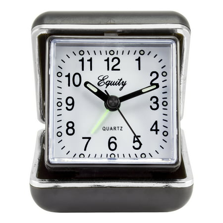 Equity by La Crosse 20080 Quartz Fold-Up Travel Alarm clock (Travel Flip Alarm Clock)