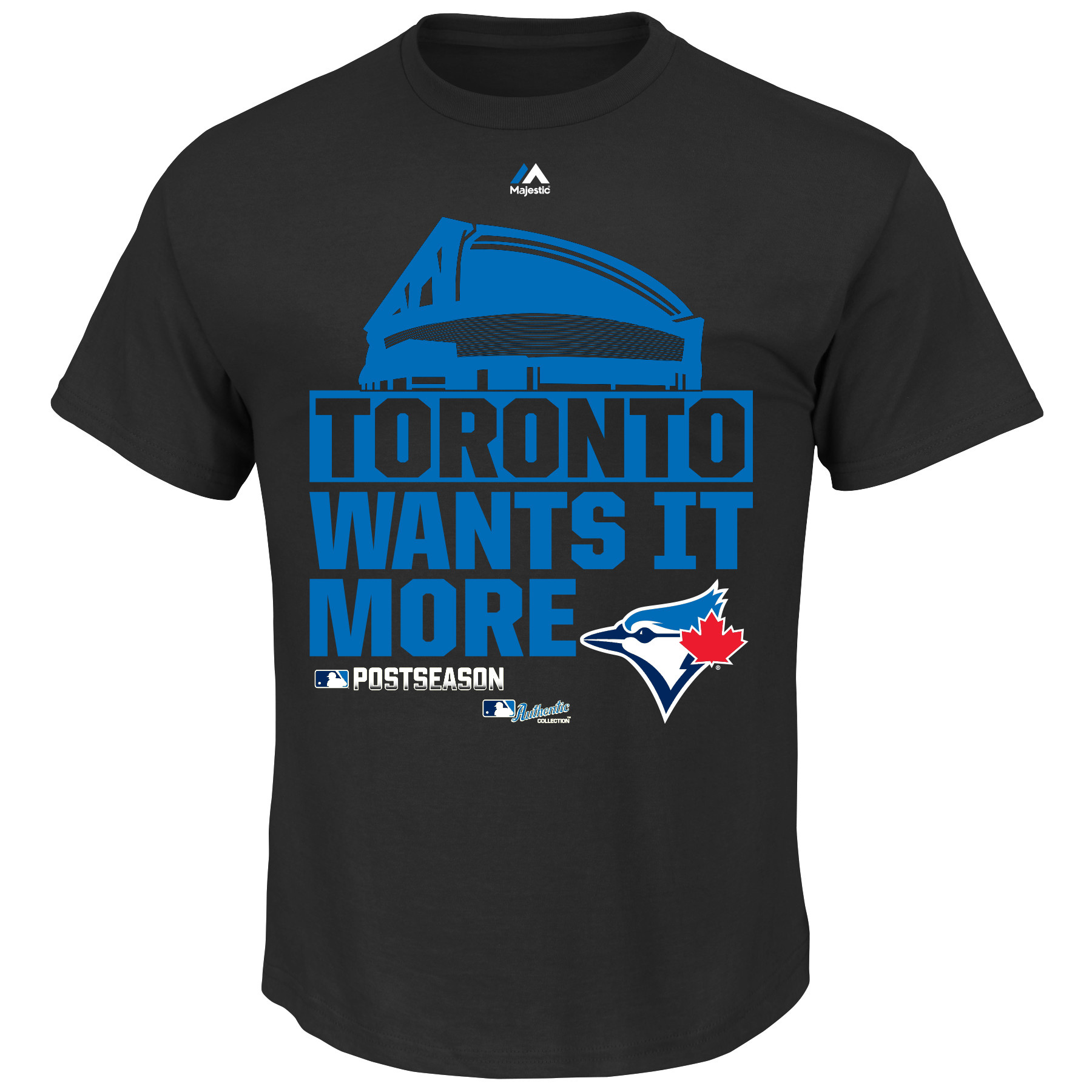 Toronto Blue Jays Majestic Big & Tall 2015 Division Series Winner Clubhouse T-Shirt - Black