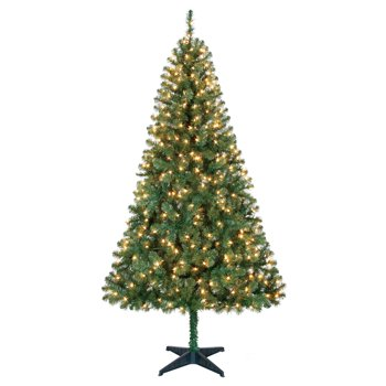 Holiday Time Pre-Lit 6.5' Madison Pine Artificial Christmas Tree