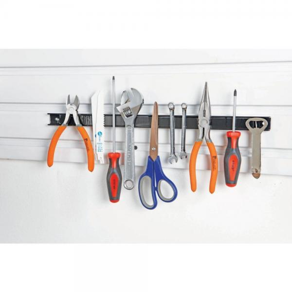 18 Inch Magnetic Tool Holder Organizer For Shop Office Kitchen Shed With 9.4 lbs Of Magnetic Pull Easy Mount by USG
