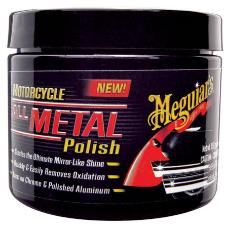 Meguiar's MC20406 Motorcycle All Metal Polish, 6 (Best All In One Car Polish)