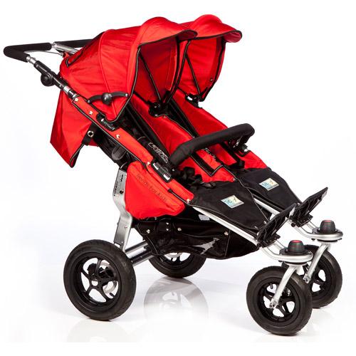 Trends for Kids Twinner Twist Duo Jogging Stroller, Red