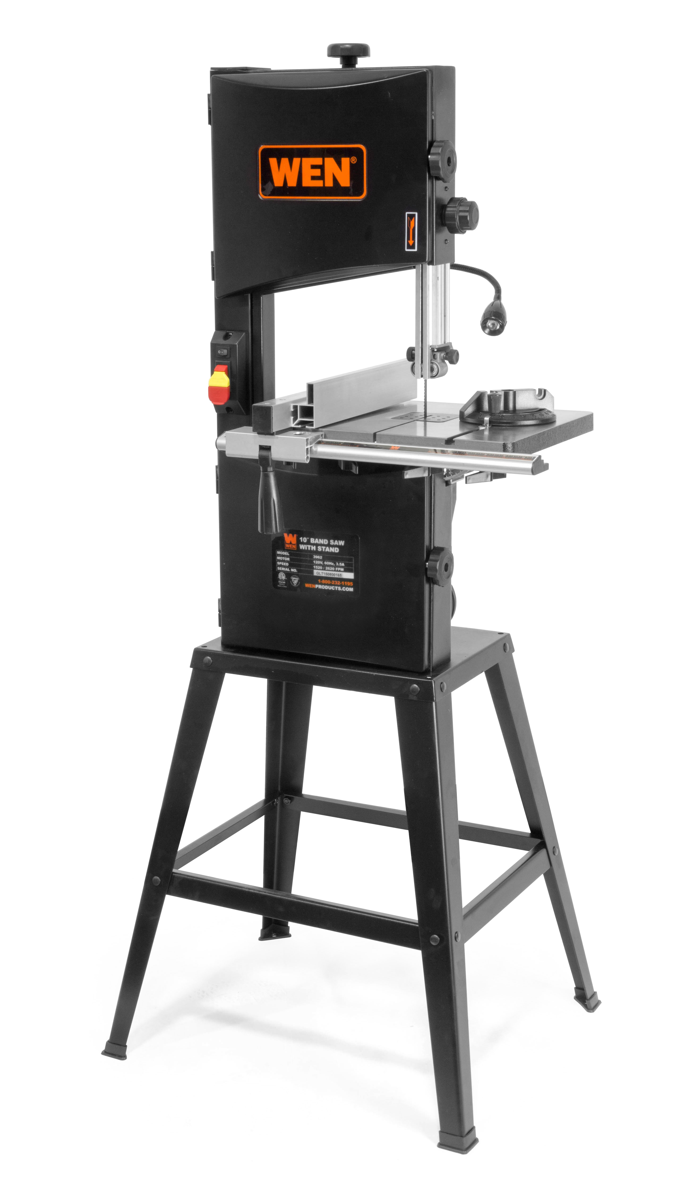 "WEN 10"" Two-Speed Band Saw with Stand and Worklight by WEN"