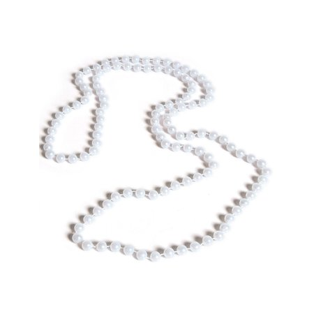 Roaring 20s Flapper Girl Costume Accessory Fancy Pearl Necklace