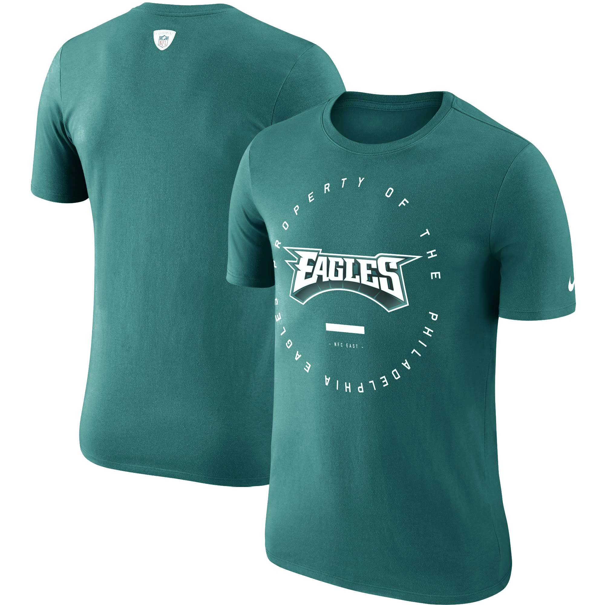 Philadelphia Eagles Nike Sideline Property Of Performance T-Shirt - Midnight Green