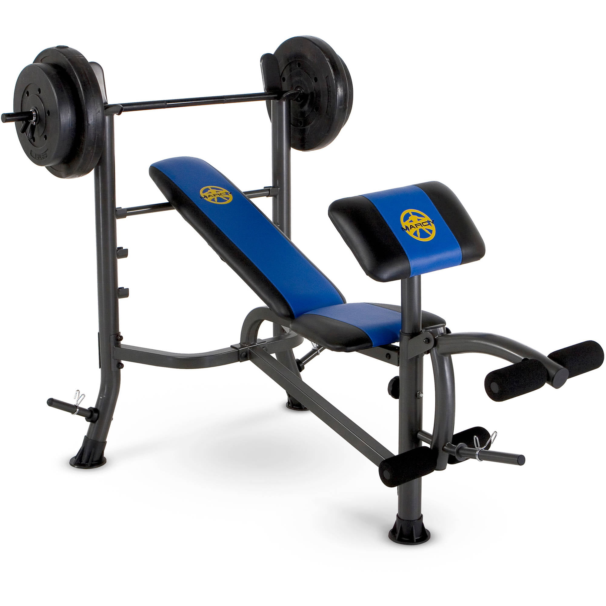 Marcy Standard Bench W 80 Lb Weight Set Mwb 36780b Benches