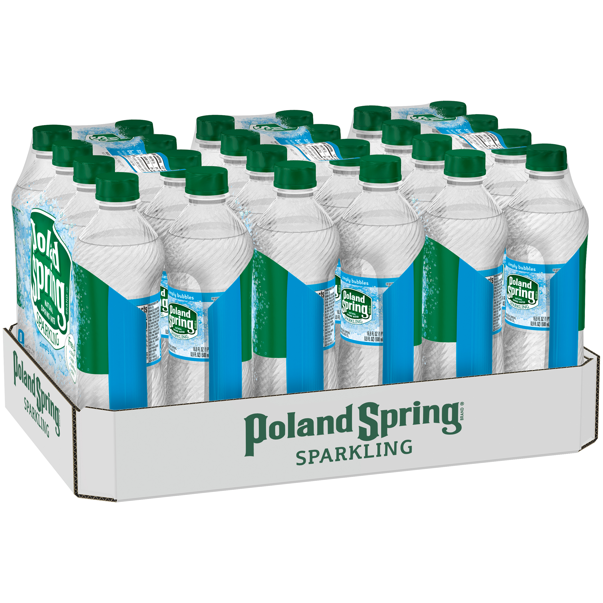 POLAND SPRING Sparkling Simply Bubbles Natural Spring Water 24 ct Pack
