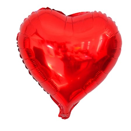 Unique Bargains Foil Heart Shape Balloon Wedding Birthday Celebration Decor Red - Heart Shape Balloons