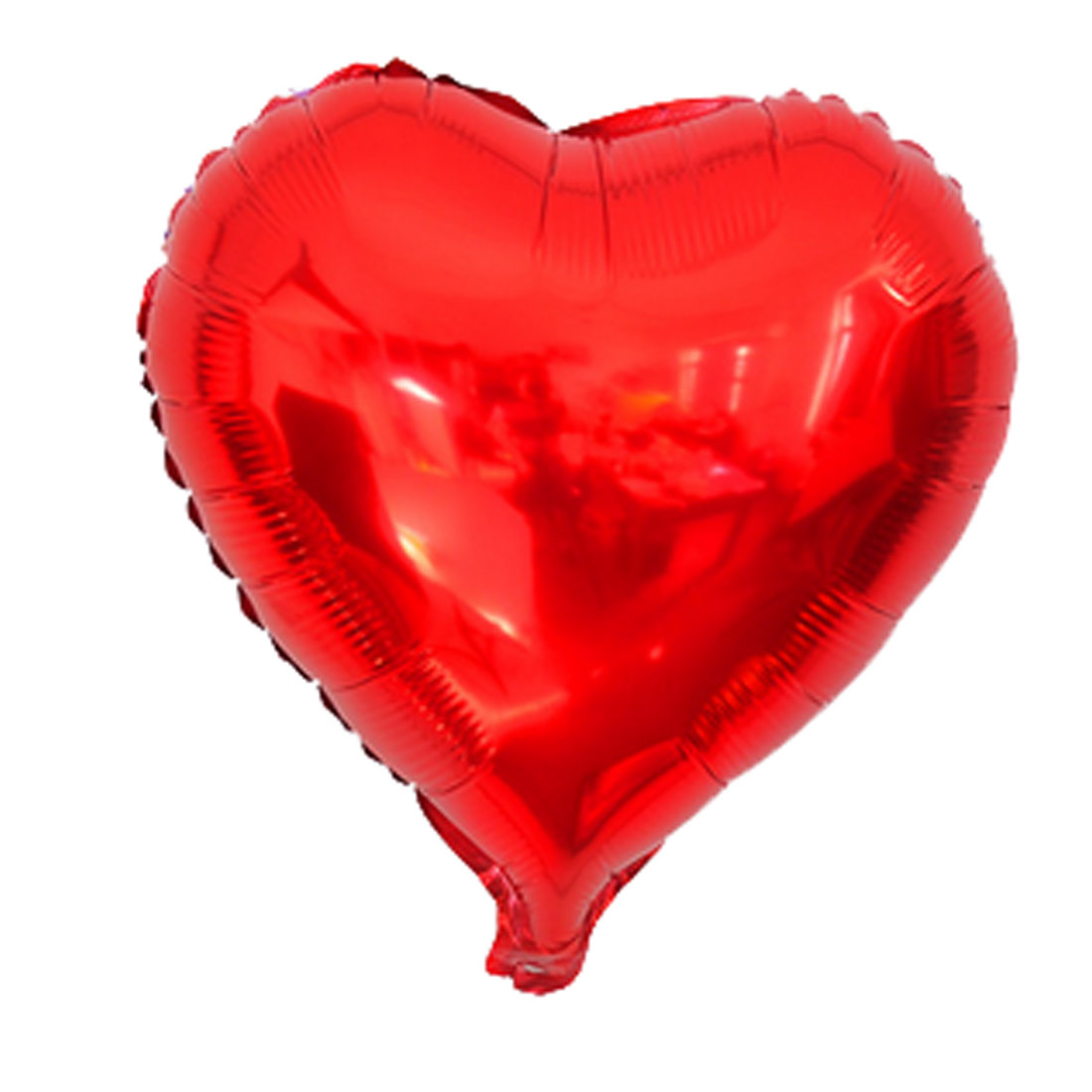 Unique Bargains Foil Heart Shape Balloon Wedding Birthday Celebration Decor Red 10""
