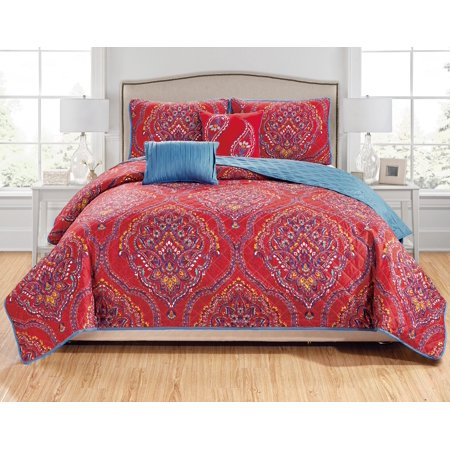 Jayna 5-Piece Quilt Set - Queen ()