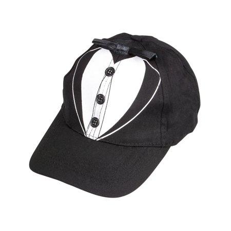 Men's Tuxedo Design Costume Baseball Hat for Grooms Wedding Parties Prom - Baseball Prom Ideas