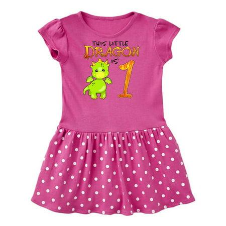 Dragon 1st Birthday- turning one Infant Dress - Buy Yellow Dress