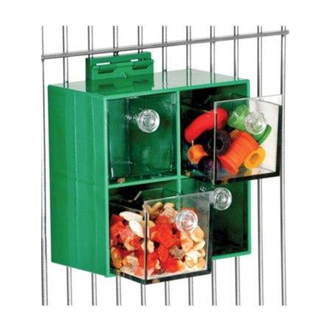 Caitec 734 Four Big Foraging Boxes  6 inch x 6 inch Cage Mount