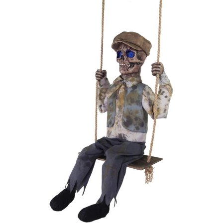Swinging Skeletal Boy Halloween Decoration - College Halloween Party Decorations
