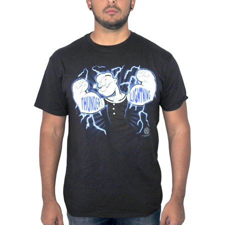 Popeye Thunday Lighthing  Mens Black T Shirt New Sizes S Xl