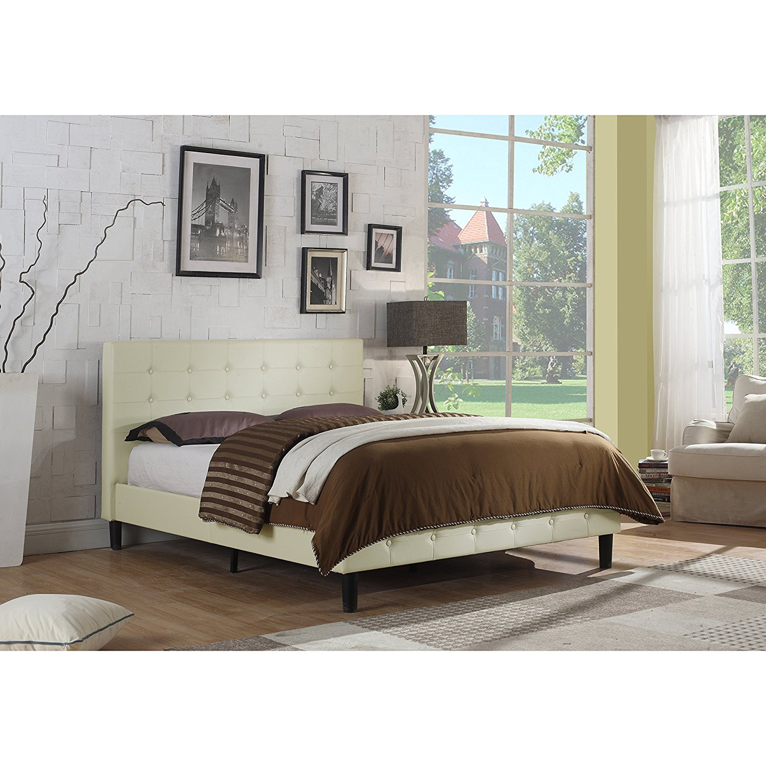 Alton Furniture Antonia Tufted Upholstered Panel/Platform Bed