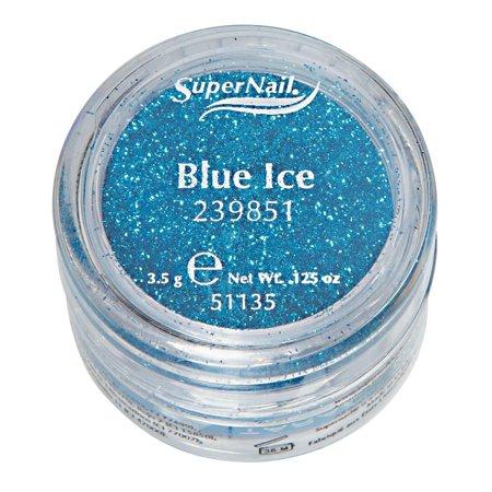 Supernail Glitter Blue Ice (Aqua Glitter) 0.125oz 3.5g