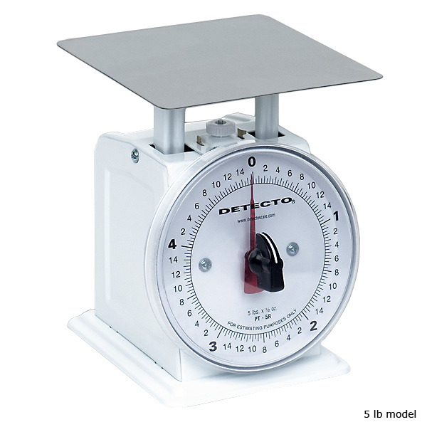 Detecto Small Mechanical Dial Scale - 5 lb