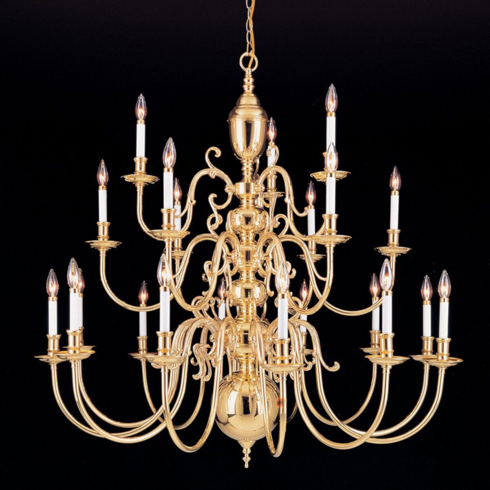 Crystorama 355-96-PB Chandelier Polished Brass by Crystorama