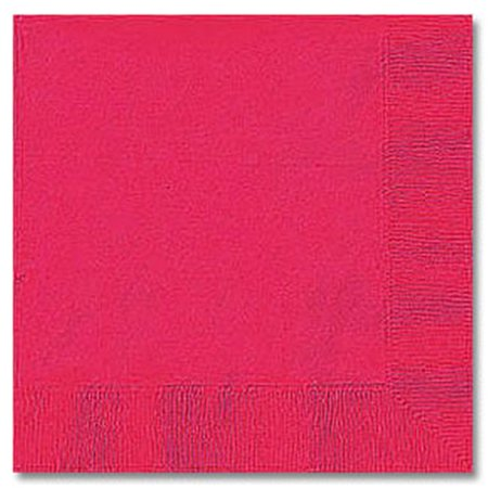 (CPC B1010BHP Hot Pink Disposable 2-Ply 1 by 4 Fold Beverage Napkins, Case of 600 - 12 Case of 50)