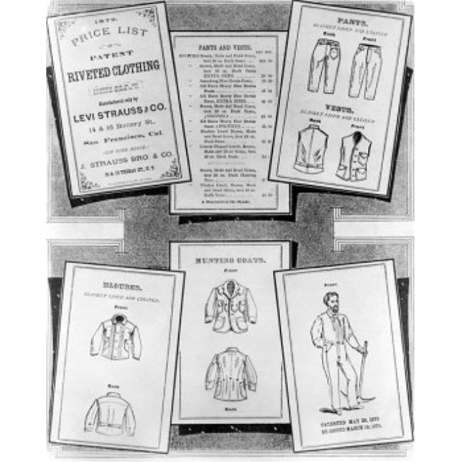 Posterazzi SAL9902748 Close-Up of Sheets of Patent Clothing Levi-Strauss Company 1879 Poster Print - 18 x 24 in. - image 1 of 1