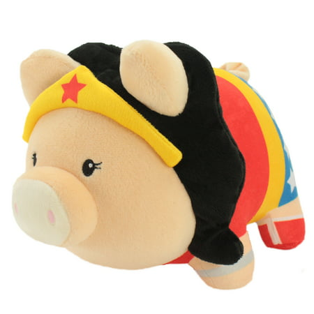 DC Comics Justice League's Wonder Woman Piggy Thrifter | Soft and Plush Collectible Batman Bank | 9.5