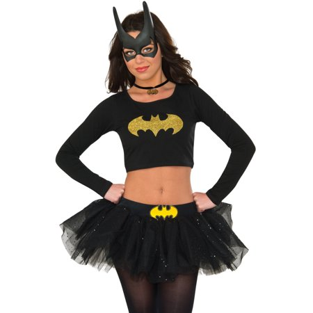 Women's Classic DC Comics Batgirl Crop Top Shirt Costume Medium-Large (8-12)](Aunt Viv Halloween)