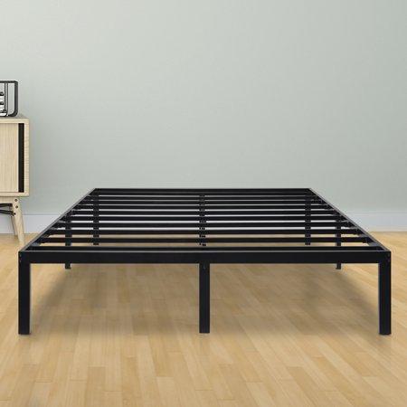 Sleeplace 14 Inch Dura Metal Steel Slat Bed Frame Full Walmartcom