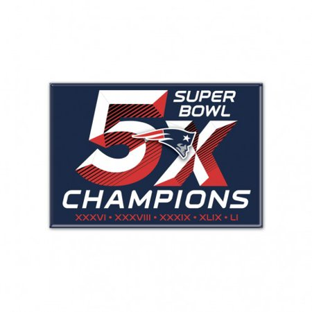 New England Patriots Fridge Magnet 5x Sb Champ Ne Patriots